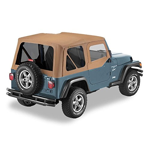 Pavement Ends by Bestop 51197-37 Spice Replay Replacement Soft Top Tinted Back Windows-With upper Door Skins-No frame hardware included- 1997-2006 Jeep Wrangler
