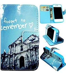 Case For iPhone 4 4S,4S Case,4S Leather,iPhone 4 Leather,iPhone 4 Leather Case,Candywe Personality Design Print Flip Wallet Style Leather Case With Stand For iPhone 4 4S 022