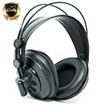 AKG M220 Pro Stylist Professional Large Diaphragm DJ Semi-Open High Definition Over-Ear Studio Headphones - Black from AKG