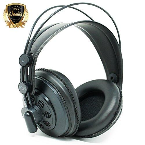 AKG M220 Pro Stylist Professional Large Diaphragm DJ Semi-Open High Definition Over-Ear Studio Headphones - Black