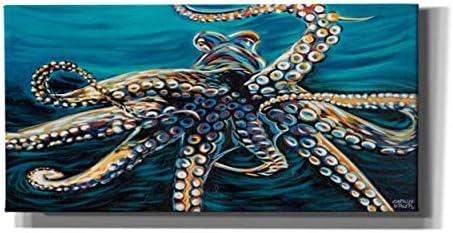 Epic Graffiti Wild Octopus II Giclee Canvas Wall Art