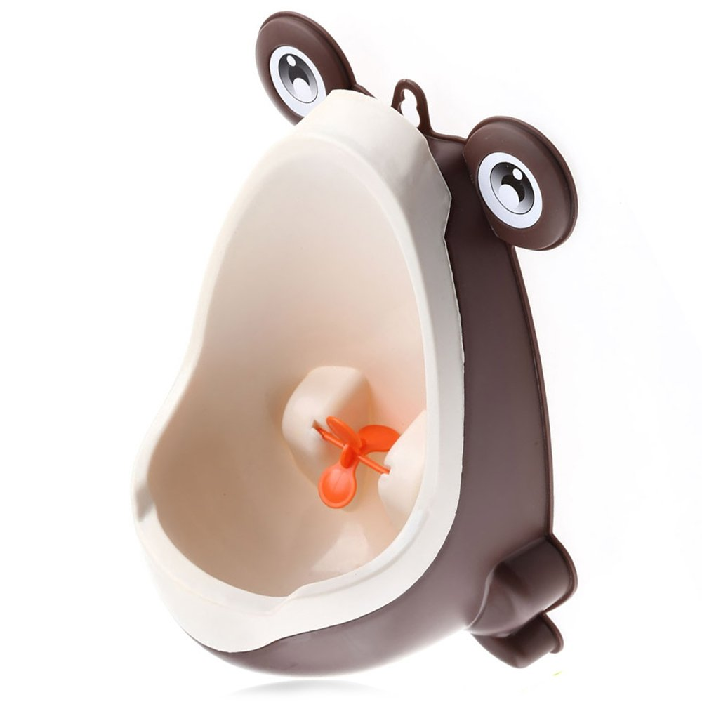 Robolife Wall Hanging Children Standing Cute Frog Potty Training Urinal with Funny Aiming Target(Green)