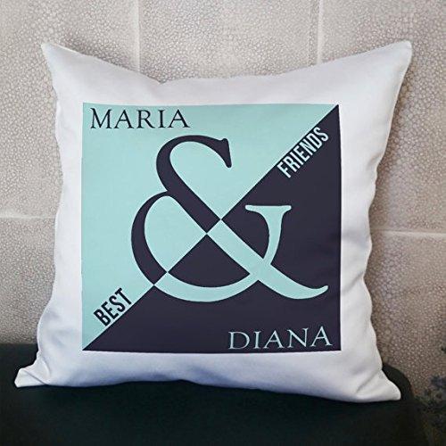 Friendship Pillowcase, Best Friend Pillow Cover, Name Pillow Cover, Custom Pillow Cover, Personalized Pillowcase, Quote Pillowcase (Dragon Birthstone In Shell)