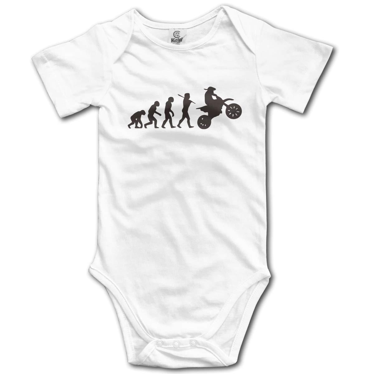 CDHL99 Evolution Motocross-1 Newborn Infant Baby Short Sleeve Rompers Costume Jumpsuit 0-2T