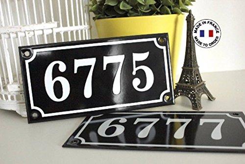 Genuine original French enamel house number.