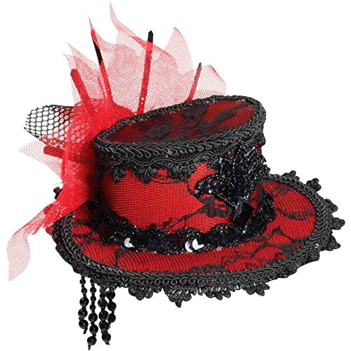 Forum Novelties Women's Costume Black Lace Mini Hat
