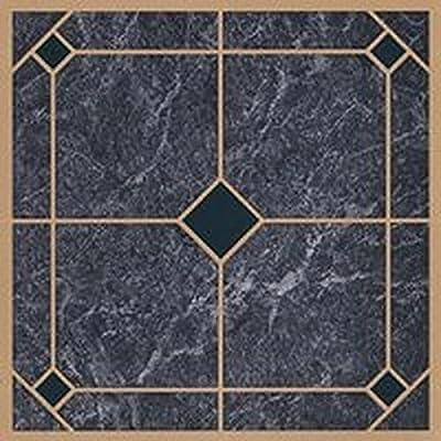 "45 Self Adhesive Blue+Gold 12"" X 12"" Vinyl Flooring Tiles"
