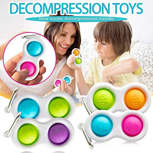Push Pop Pop Bubble Sensory Fidget Toy,Stress Reliever Silicone Stress Reliever Toy,Squeeze Sensory Toy (1pc G)