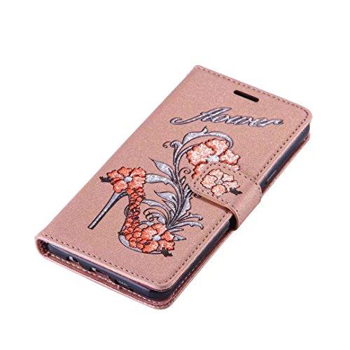 COWX Samsung Galaxy A5 2016 Hülle Kunstleder Tasche Flip im Bookstyle Klapphülle mit Weiche Silikon Handyhalter PU Lederhülle für Samsung Galaxy A5 (2016) /SM-A510F Tasche Brieftasche Schutzhülle für WwbmwiLomO