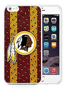 Beautiful Designed Case With Washington Redskins 03 White For iPhone 6 Plus 5.5 Inch TPU Phone Case