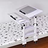Tables Adjustable Laptop Stand Bed Table, Foldable Breakfast Tray, Quality Notebook Stand, Play Games On Bed Table,Desktop 360 ° Free Rotation,Carbon Steel Frame (Color : G)