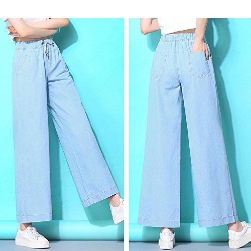 En Denim Las Cintura De Jeans Moda Descolorado Blue Jeans Cómodos De Mujeres Nueva Jeans Estilo Mezclilla Alta FwqpIXvC