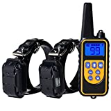 Mooxury Remote Dog Training Collar, Waterproof and 1000 Yards Remote Static Shock Training Collar for 2 dogs with Vibration, Beep and Shock Electronic Collar