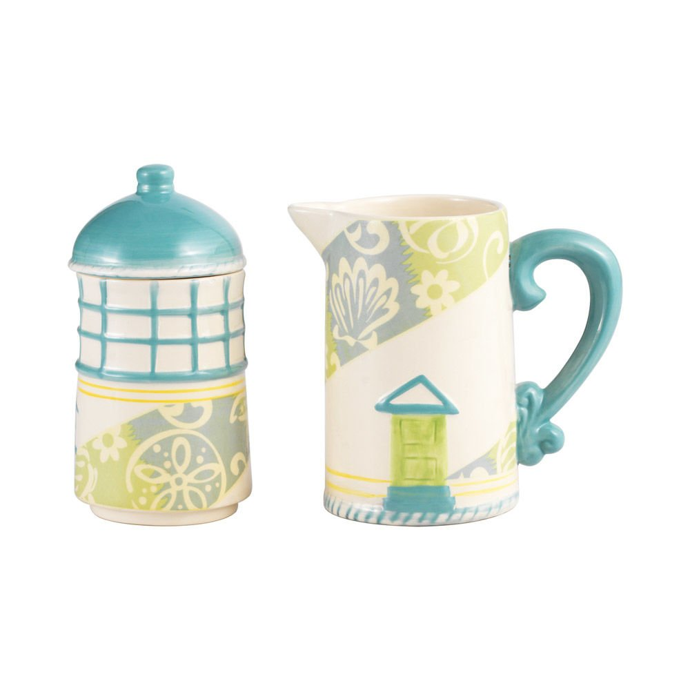 Pfaltzgraff Seaside Stacking Lighthouse Sugar and Creamer Set