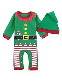 Mombebe Baby Boys'Green Elf Costume Romper