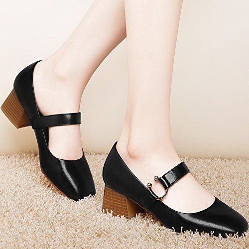 With Maryja Shoes KHSKX Match Rough Shoes The Documentary With seven Thick Square Shoes Tide Thirty Female All IxXwx