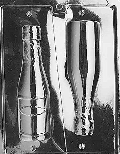 (Grandmama's Goodies AO042 Large Champagne Bottle Chocolate Candy Soap Mold with Exclusive Molding)