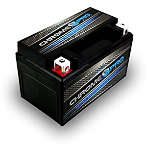 Chrome Battery YTZ10S Power Sports Battery (YTZ10S-BS AGM High Performance)