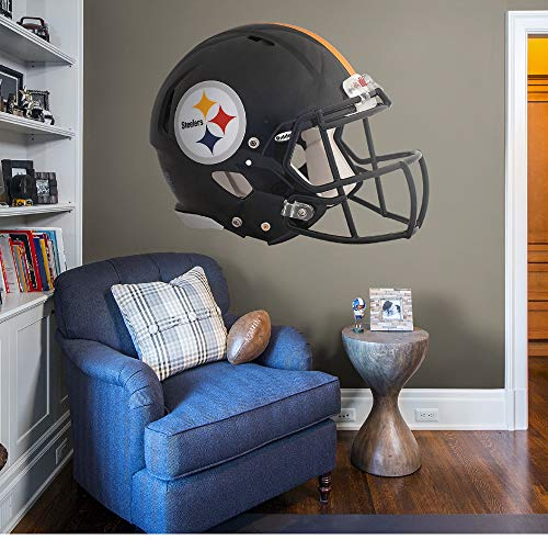 Fathead NFL Pittsburgh Steelers Pittsburgh Steelers: Helmet - Giant Officially Licensed NFL Removable Wall Decal