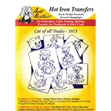 Cat of All Trades Aunt Martha's Hot Iron Embroidery Transfer by Aunt Martha's