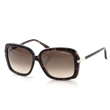6e85061b27067 Tom Ford Paloma TF323 52F Dark Havana Brown Gradient  Amazon.co.uk  Clothing