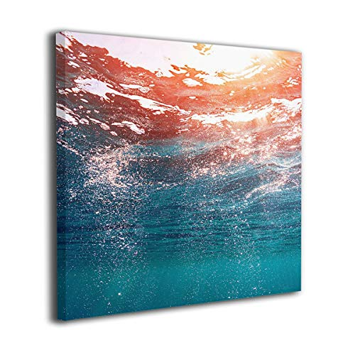 Jaylut Square Frameless Painting Print Artwork Full-size-ocean-water-wallpaper-1080x1920 Drawing Picture Wall Decor for Home Office 16