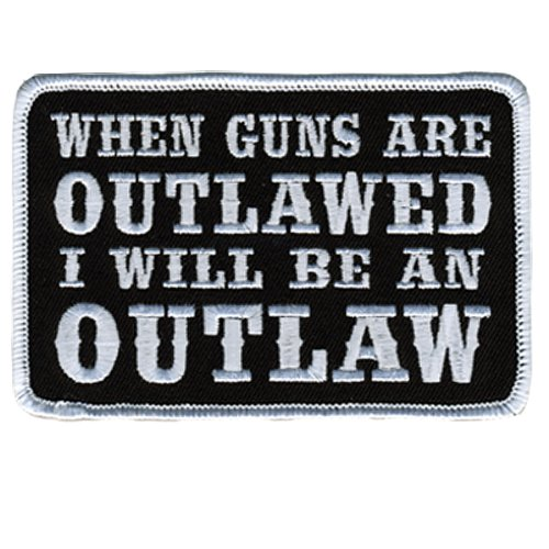 Hot Leathers When Guns Are Outlawed Second Amendment Support Patch (4 Width x 3 Height)