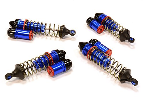B4 Parts (Integy RC Hobby C25789BLUE Billet Machined Shock Set (4) for Team Associated)