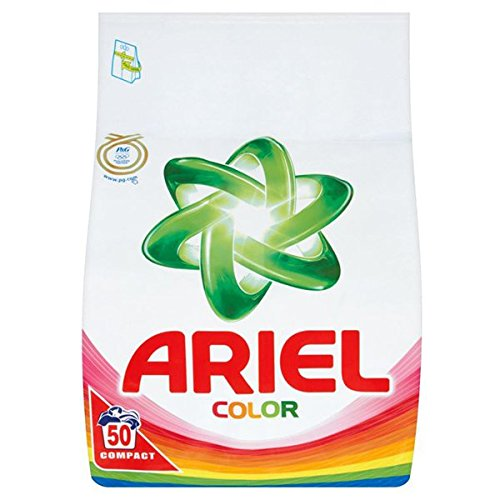 Ariel Color Compact H.E. Laundry Powder [Authentic European] - 150 Wash Loads (3 x 3.5kg Compact) by ARIEL