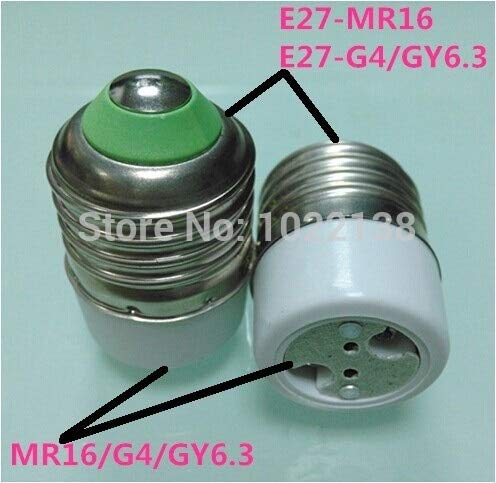 Halica 100pcs Light Bulb Lamp Adapter E27 to MR16 / G4 / G5.3 socket, Aging Lamp base holder converter