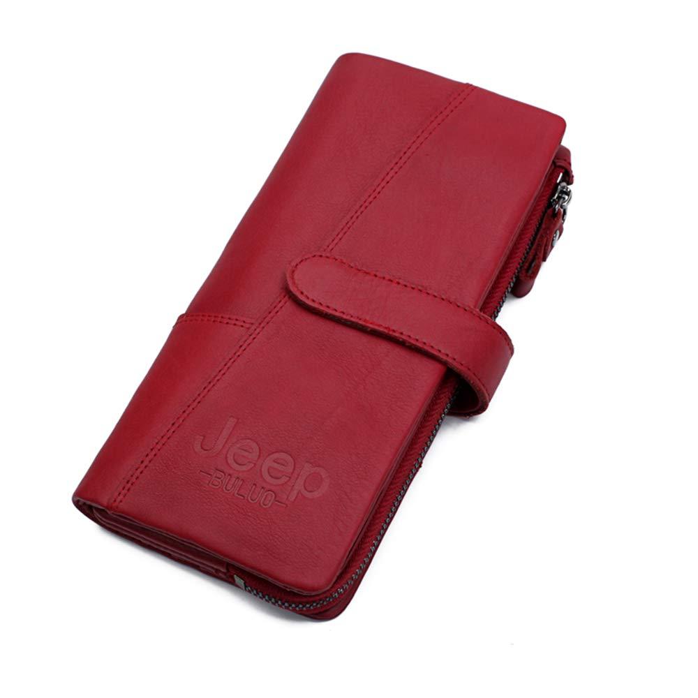 JEEP BULUO Genuine Leather Wallets For Women