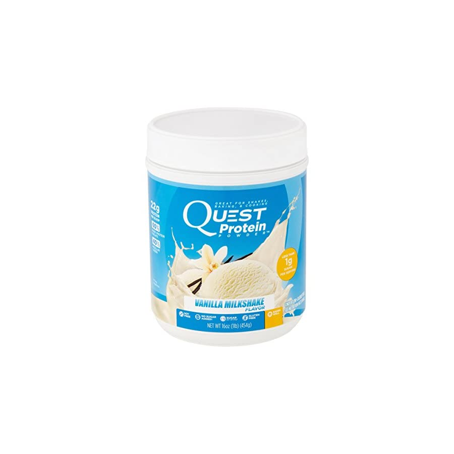 Quest Nutrition Protein Powder, Banana Cream, 21g Protein, 3g Net Carbs, 84% P/Cals, 2lb Tub, High Protein, Low Carb, Gluten Free, Soy Free