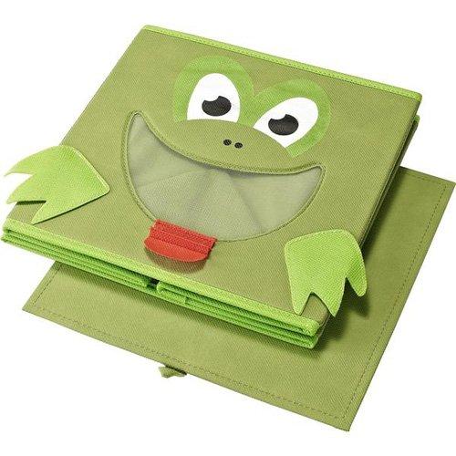 Monkeyland Green Frog Fabric Storage Organizer Bin
