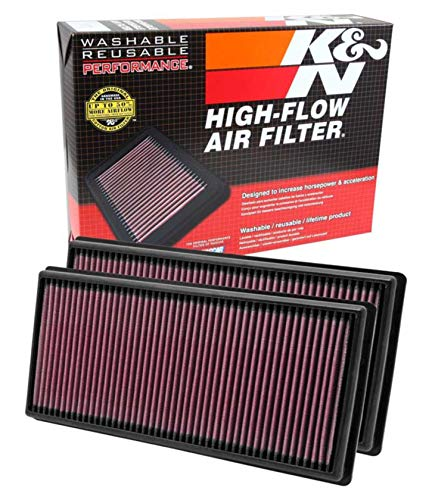 K&N engine air filter, washable and reusable:  2009-2018 Land Rover V6/V8 (Discovery, Range Rover, LR4) 33-2446 (Rover V8 Engine Parts)