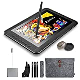Parblo Mast10 10.1'' Graphic Tablet Drawing Monitor with Shortcut Keys and Battery-free Pen Passive Stylus + USB 3.1 Type C Cable Adapter for Macbook
