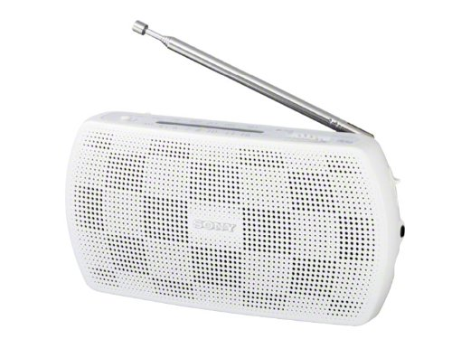 White SONY stereo portable radio SRF-18 / W (Japan domestic model, Japanese language only) (Japan Radio)