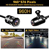 Backup/Front/Side View Camera: No Distortion Effect Starlight Night Vision HD Waterproof IP69K Metal Flush or Bracket Mount NATIKA Reverse Rear View Backup Camera for Cars Pickup Trucks SUVs RVs Vans