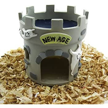 Alfie Pet by Petoga Couture - Castle Hideout Hut for Small Animals like Dwarf Hamster and Mouse