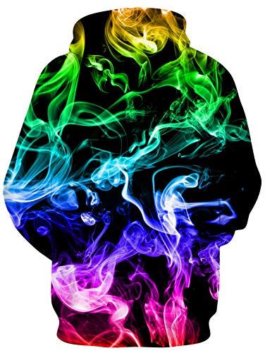 RAISEVERN Unisex 3D Print Fleece Hoodies Pullover Long Sleeve Hooded Sweatshirts