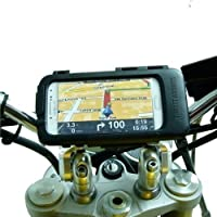 Motorcycle Bike PRO Handlebar Mount & IPX4 Waterproof Phone Tough Case for Samsung Galaxy S4 GT-i9500