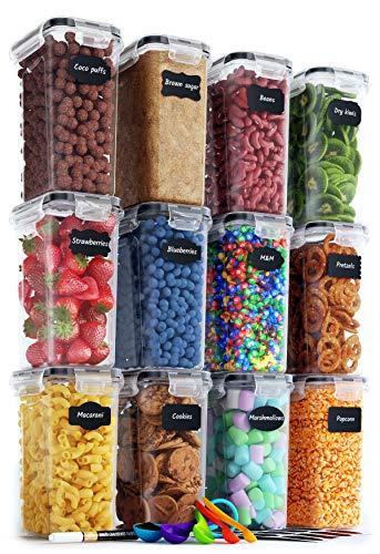 Pasta-460ml Xnuoyo Recipientes Herm/éticos para Almacenamiento De Alimentos Recipientes Apilables De Cocina y Despensa con Tapas De Cierre F/ácil Nueces Bocadillos Ideales para Harina Cereales