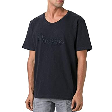 a163ee05 Pierre Balmain Embroidered Logo T-Shirt, Navy (60-4XL) | Amazon.com