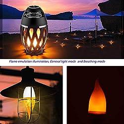 LED Flame Effect Light Bulb - 2 Watt Warm White LED Chandelier Bulbs,3 Modes with E12 Base LED Bulb - Flame Light for /Hotel/Bar / Party Decoration ( 9PARK )