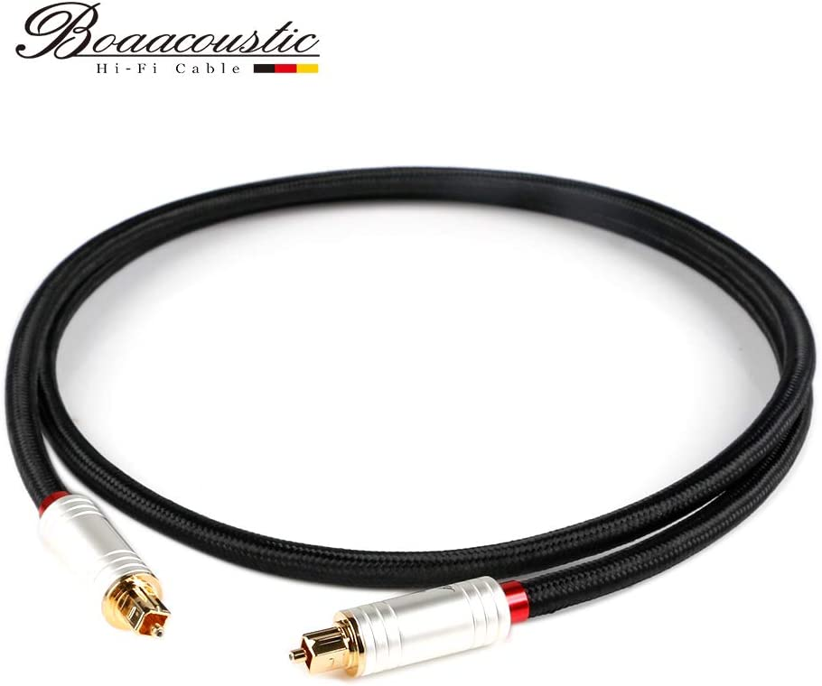 JIB Boaacoustic 4N OFC HiFi Speaker Cable,Convertible Banana Spade Gold Plated Connector 8ft//2.5M, 2 Pcs//Set