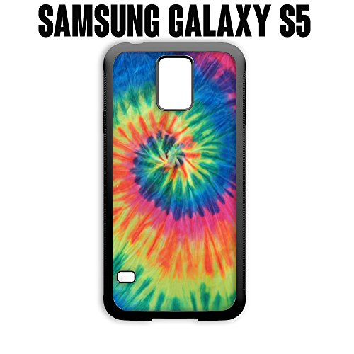Phone Case Artsy Abstract Hipster Tie Dye for Samsung Galaxy S5 Rubber Black (Ships from CA) (Dye Case S5 Tie Galaxy)