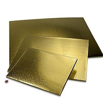Amazon.com: Cartón Panadería Gold Foil Pastel Junta 1/4 ...