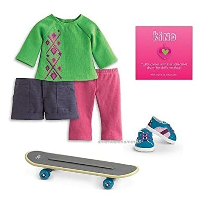 462f724c6f8 Amazon.com: American Girl - Skateboard Set + Charm for Dolls - MY AG 2013:  Toys & Games