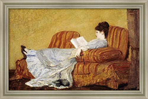- Framed Canvas Wall Art Print | Home Wall Decor Canvas Art | Young Lady Reading by Mary Cassatt | Modern Decor | Stretched Canvas Prints