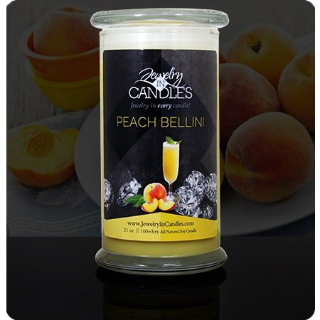 Jewelry In Candles ~ Peach Bellini Candle