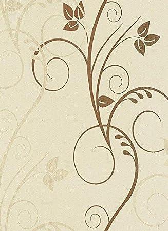 Hochwertig Vlies Tapete Erismann ISABELLA 5914 02 Floral Ranken Struktur Beige Braun  Gold